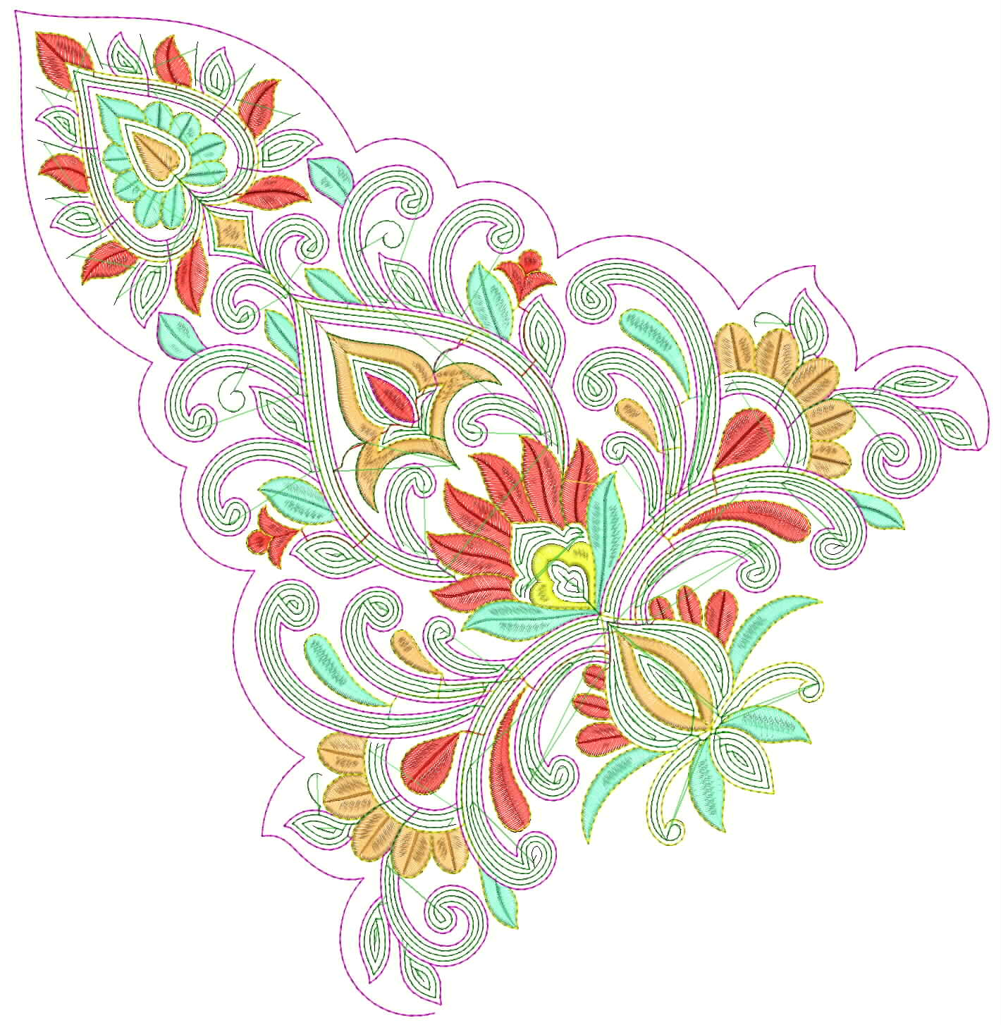 Embdesigntube ready to use patch embroidery design