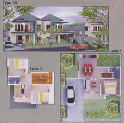 desain rumah minimalis tipe 80 2 lantai desain denah