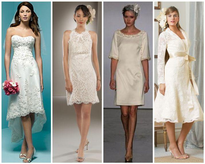 Short White Wedding Dress Design