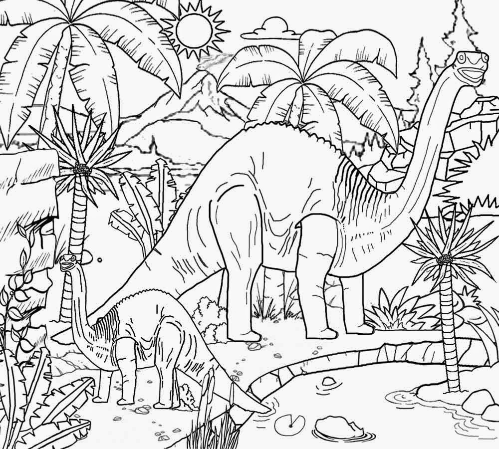 Jurassic Dinosaurs Coloring Pages