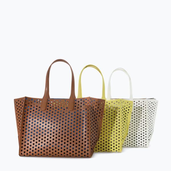 perforated large shopper (1) | Zara