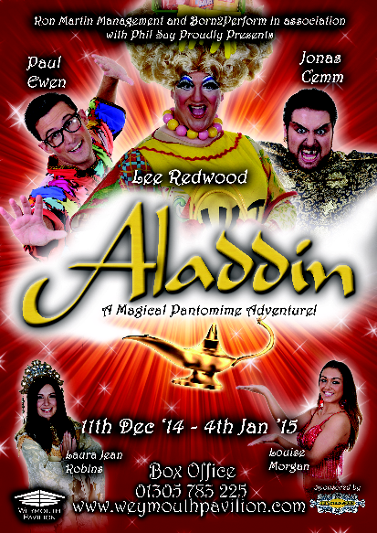 Aladdin Weymouth Pavilion Pantomime 11th Dec 2014 to 4th Jan 2015