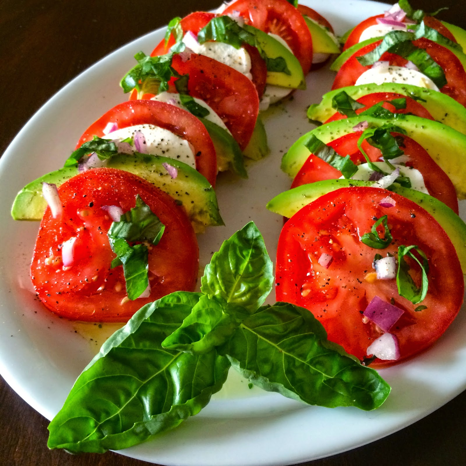 Food Impressions: Avocado Caprese Salad