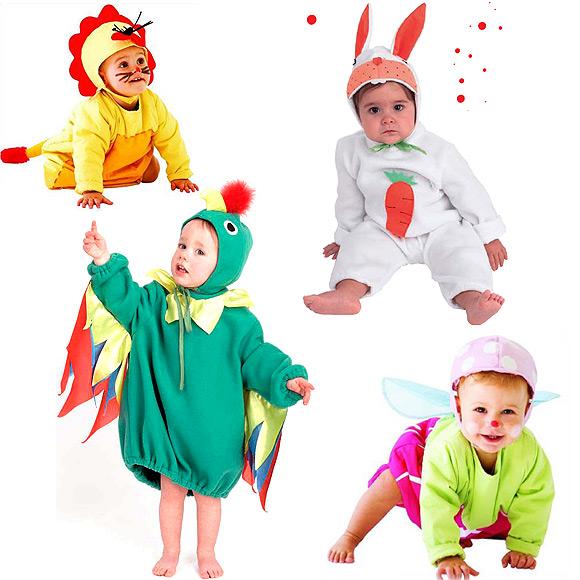 Para bebés: disfraces de animalitos, de dragón y conejito ...
