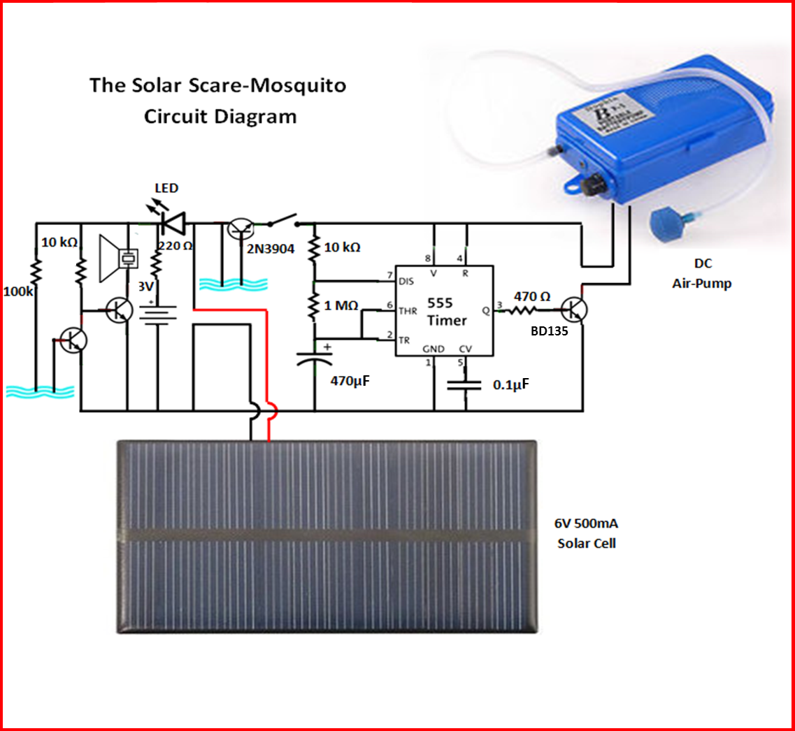 gallactronics solar scare mosquito this is the best part of the project building the circuit it takes no time to build this circuit which could potentially save you from those nasty