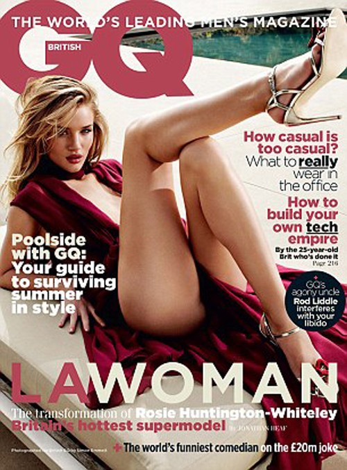 "Rosie Huntington-Whiteley Is Super Sexy In British ""GQ""!"