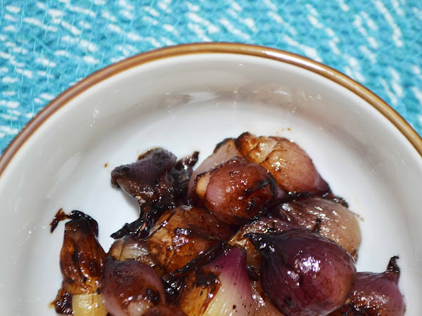 Roasted Balsamic Red Pearl Onions