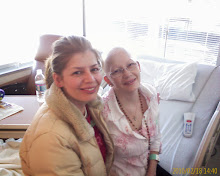 My sister with me, during frontline chemo.