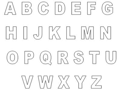 desenhos para imprimir e colorir letras do alfabeto de A até Z