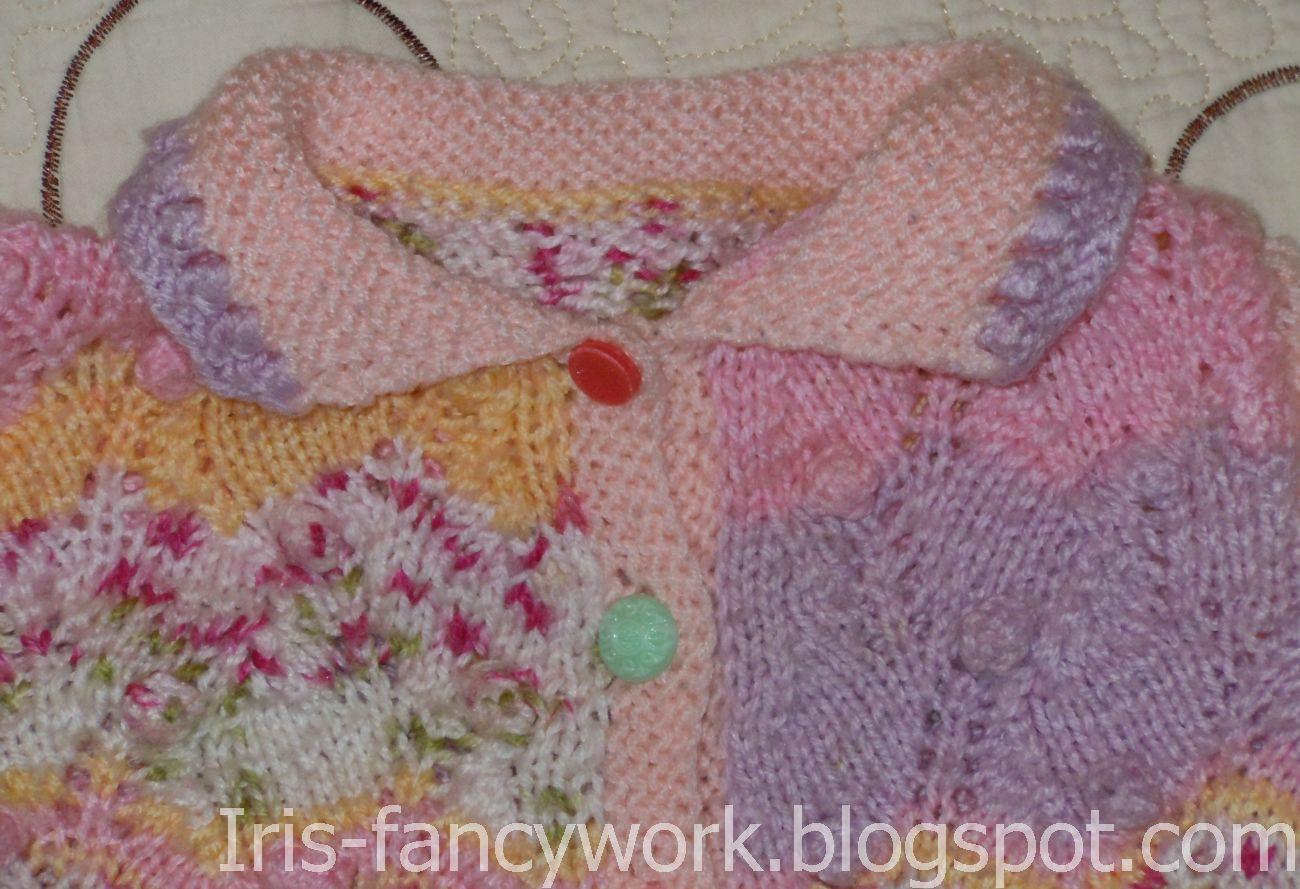 Вязание из пряжи с шишечками спицами 16