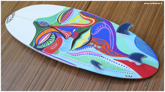 Swop surfboards assinie mafia - Decorer sa planche de surf ...