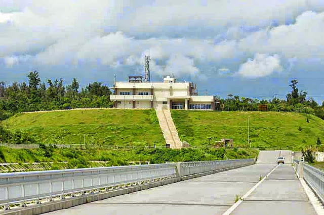 dam office, roadway