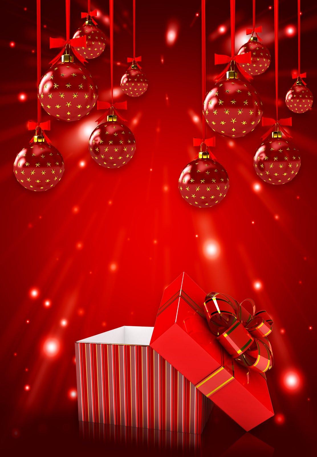 FONDOS DE NAVIDAD - FONDOS NAVIDEÑOS Postal-navide%25C3%25B1a-con-esferas-rojas-para-compartir-en-Navidad