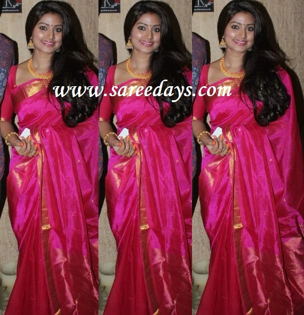 Latest saree designs sneha in pink uppada silk saree sneha in pink uppada silk saree altavistaventures Image collections