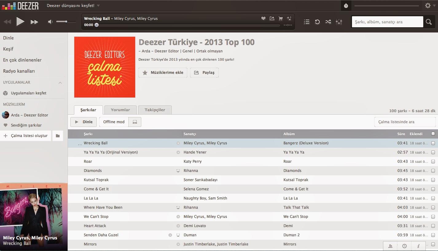 Deezer Türkiye Top 100