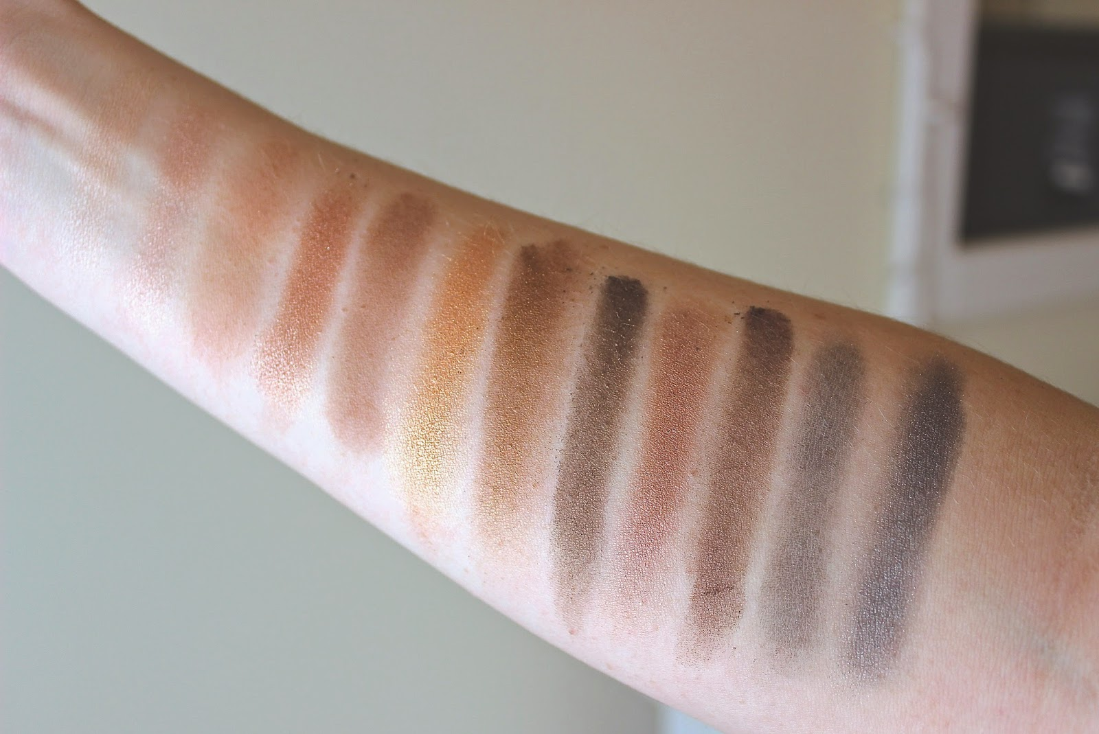 Urban Decay Naked Palette Swatches, Embur, Urban Decay, Beauty Blogger,