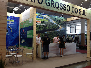 Estande do Mato Grosso do Sul na Adventure Sports Fair em São Paulo