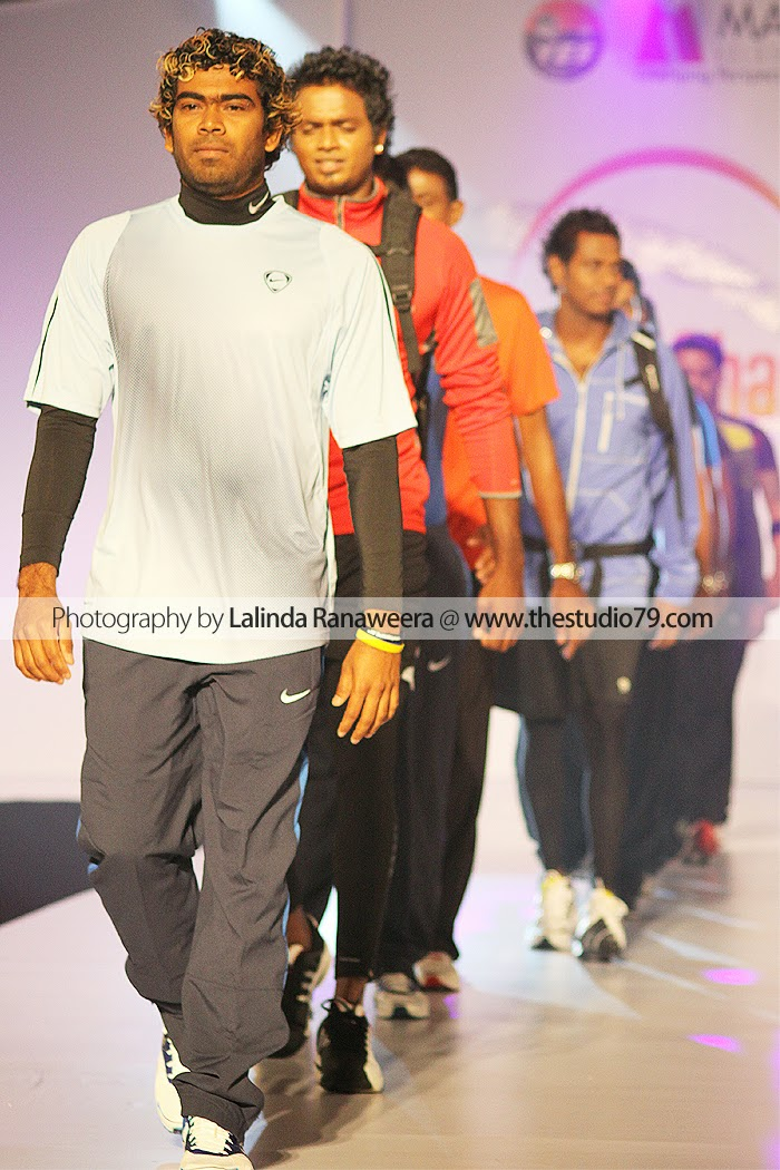 sl cricketers fashion show