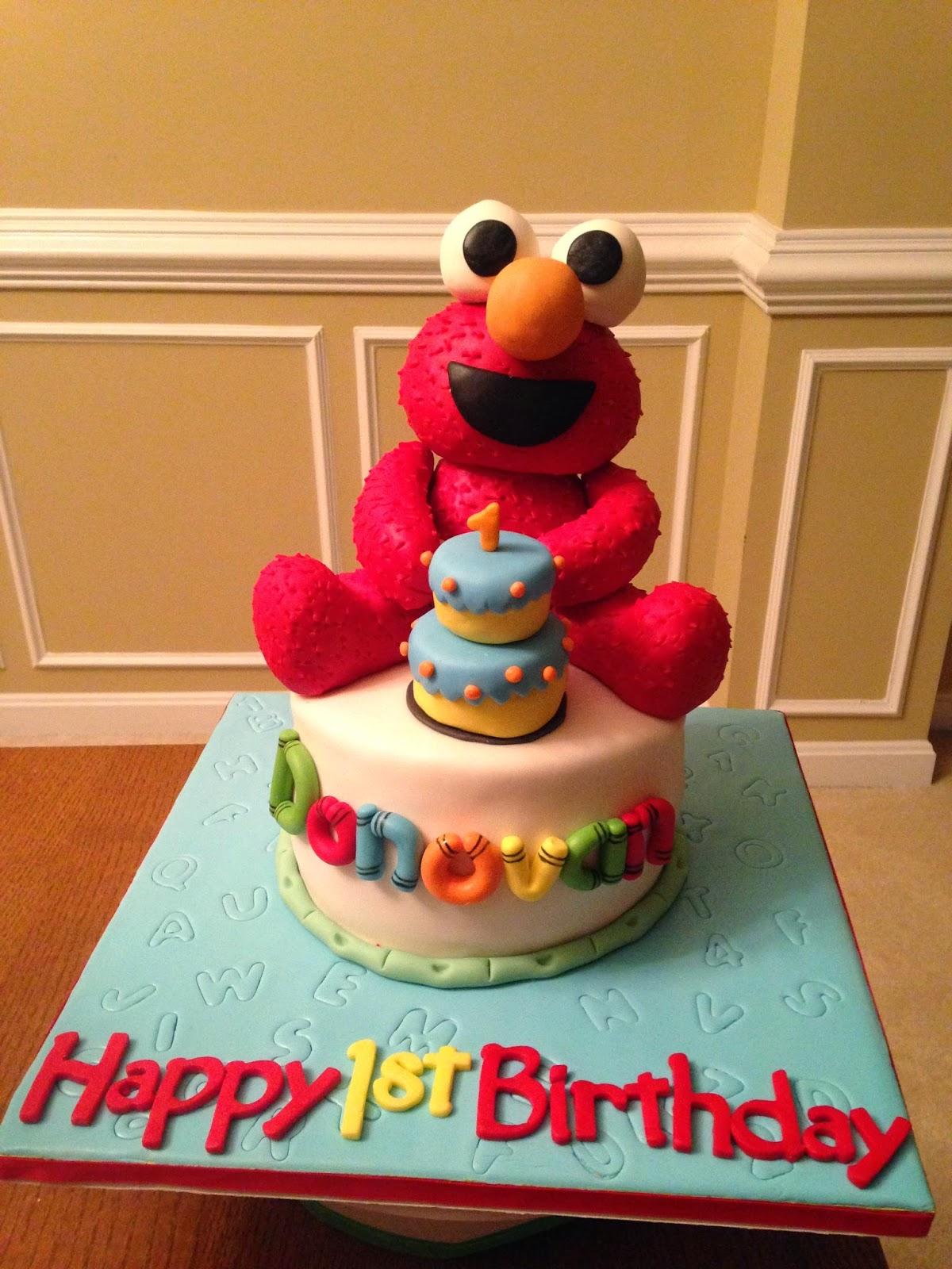 Joyce Gourmet Elmo First Birthday Cake