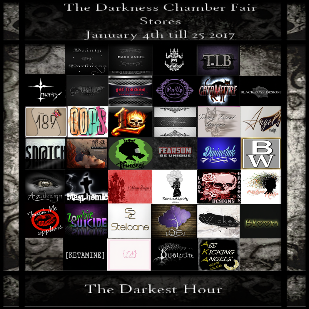 Stores Featured In The Very 1st Darkness Chamber Fair of 2017