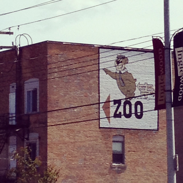 original Calgary Zoo sign