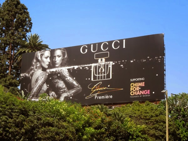 Blake Lively Gucci Premiere fragrance billboard 2014