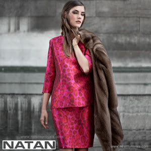 Queen Maxima Style NATAN Animal Print Dress - Winter 2015