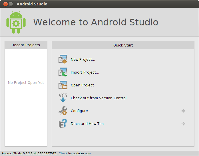 Install Together With Update Android Studio (Beta) On Ubuntu 14.04