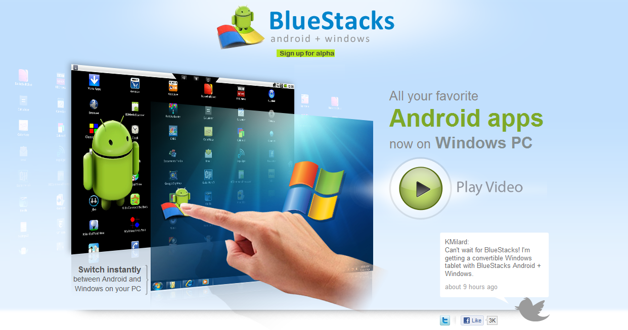 BlueStacks 0.9.11.4119 Rooted App