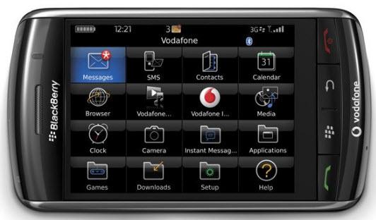 BlackBerry Storm 9530 GUI PSD User Interface