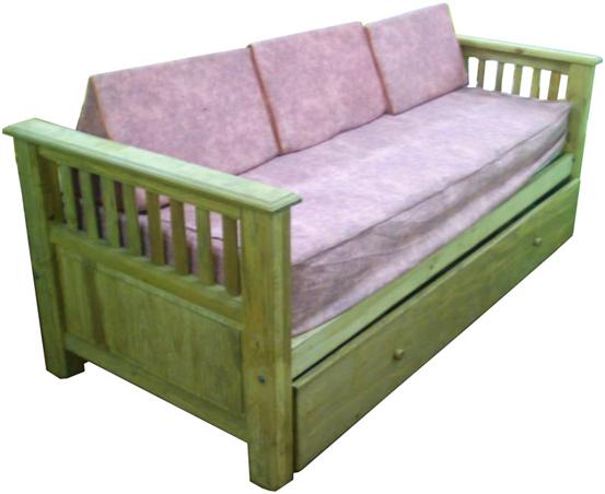 El mejor precio y entrega en mendoza muebles de pino for Sofa cama rustico