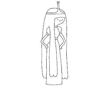 #10 Princess Bubblegum Coloring Page