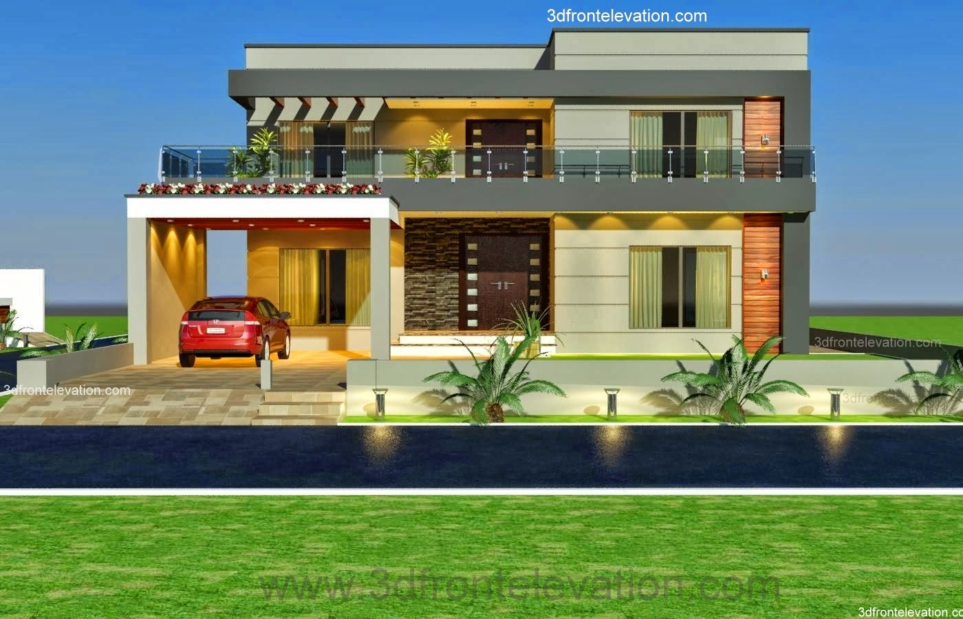 N Home Design Modern Front Elevation Ramesh : D front elevation kanal old style house convert in