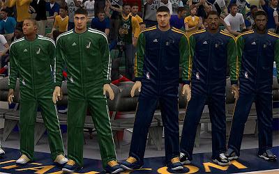 NBA 2K13 Utah Jazz Realistic Warmups Mod