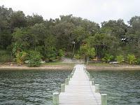 Walkway in Roatan, Honduras