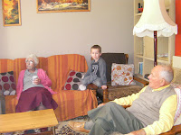 meeting grandparents in the lounge