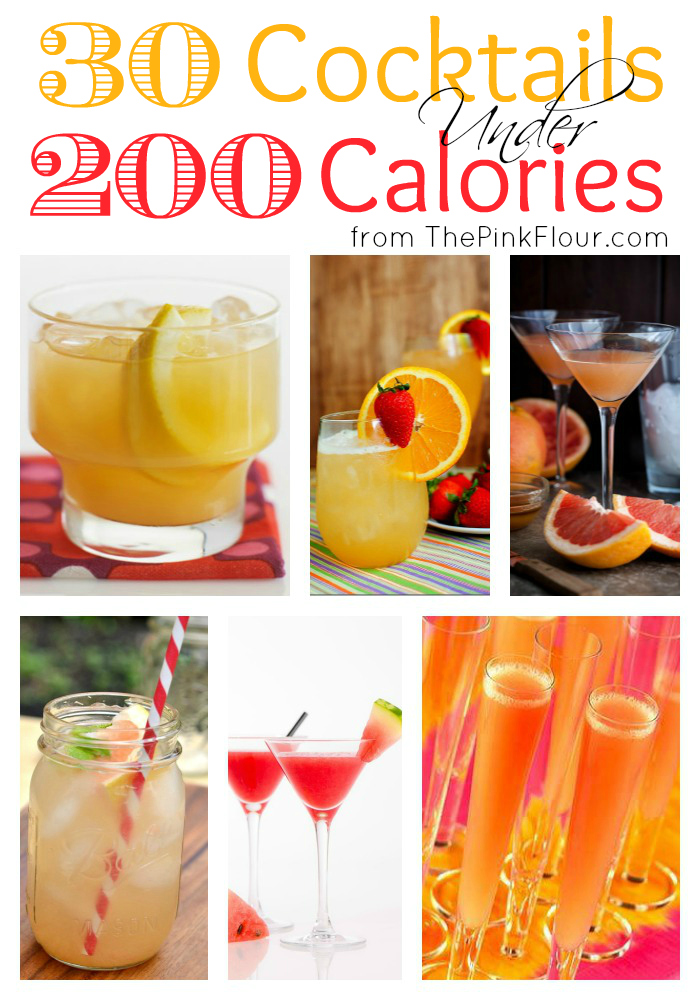 30 Cocktails under 200 Calories - skinny / healthier drinks perfect for summer