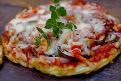 Cauliflower crust pizza fast food Yummy and tasty food Recipe in english