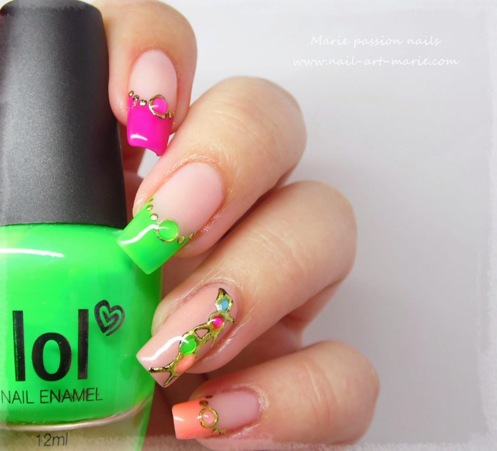 nail art fluo9