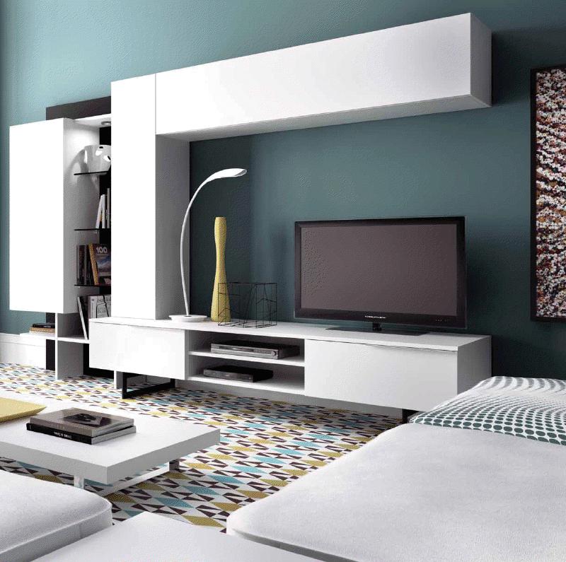 Muebles salon blancos - Salones juveniles modernos ...