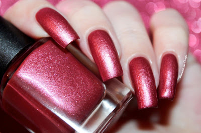 Swatch of the OOAK Red Velvet Cake from Petal Polish