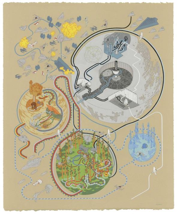 Andrew DeGraff. Mapas Cinefilos. Doctor Ojiplático