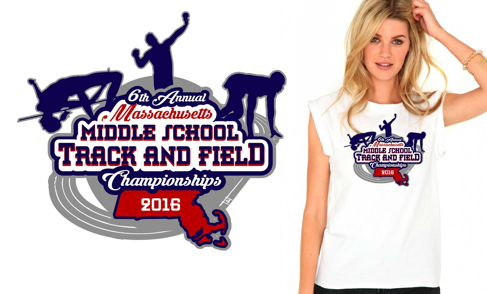 T-shirt logo design - Stunning Vector Logo Design For Tshirt For Track And Field Event