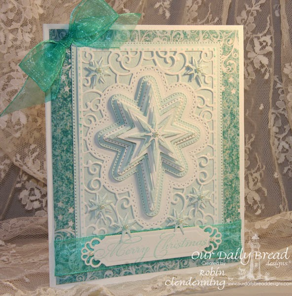Our Daily Bread Designs, Christmas Mini Set, Flourished Star Pattern, Splendorous Stars, Bonus Star die, Christmas Collection 2014, Designed by Robin Clendenning