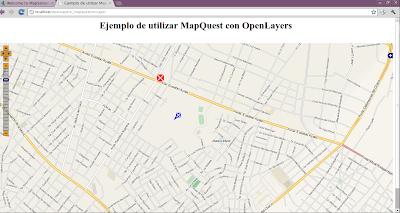 Imagen de MapQuest en OpenLayers