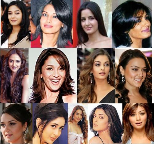 indian hair styles: Bollywood Heroins Haircuts