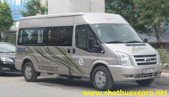 Cho thuê xe 16 chỗ Ford Transit tại Hà Nội Giá Rẻ.