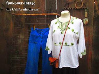 Vintage Mexican 60s festival blouse