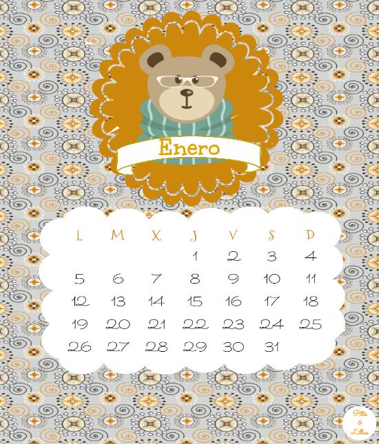calendario/calendar descargable imprimible enero 2015 castellano,euskera,catalán, inglés