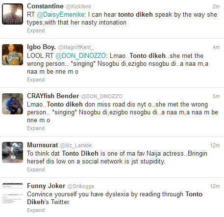 Tonto Dikeh And Fans Fight On Twitter Over The Release Of Her New Song